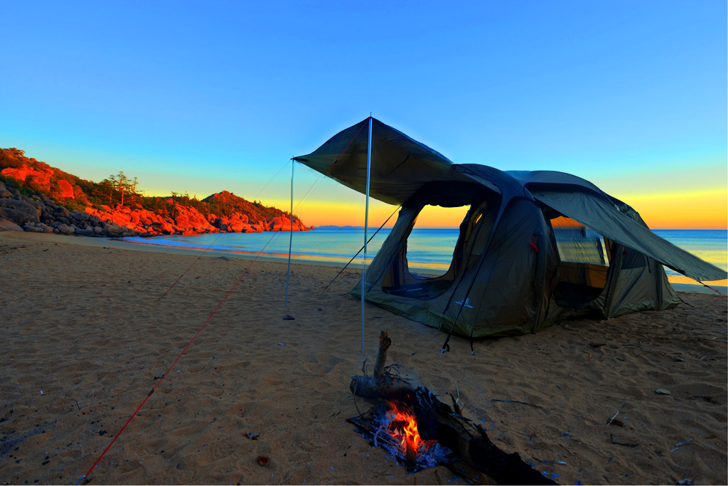 Our tent at Radical Bay on Magnetic Island