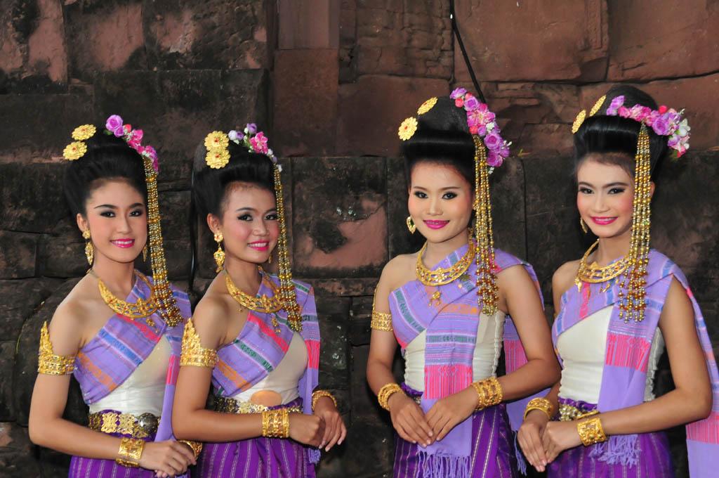 Apsara dancers at Phimai Thailand