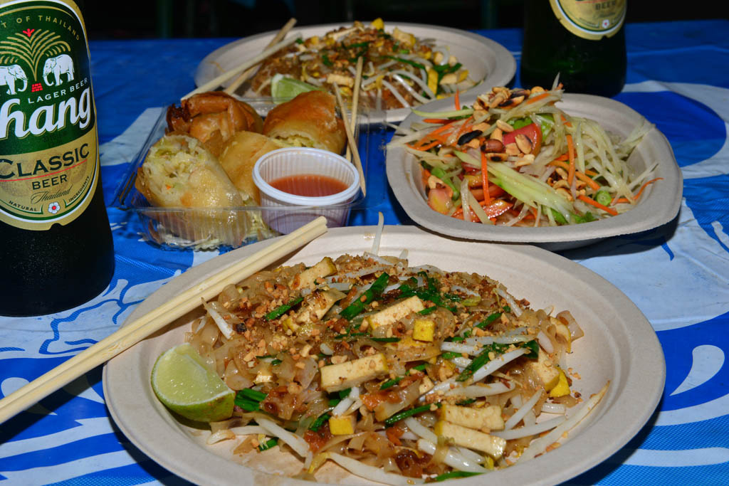 pad-thai-and-spring-rolls