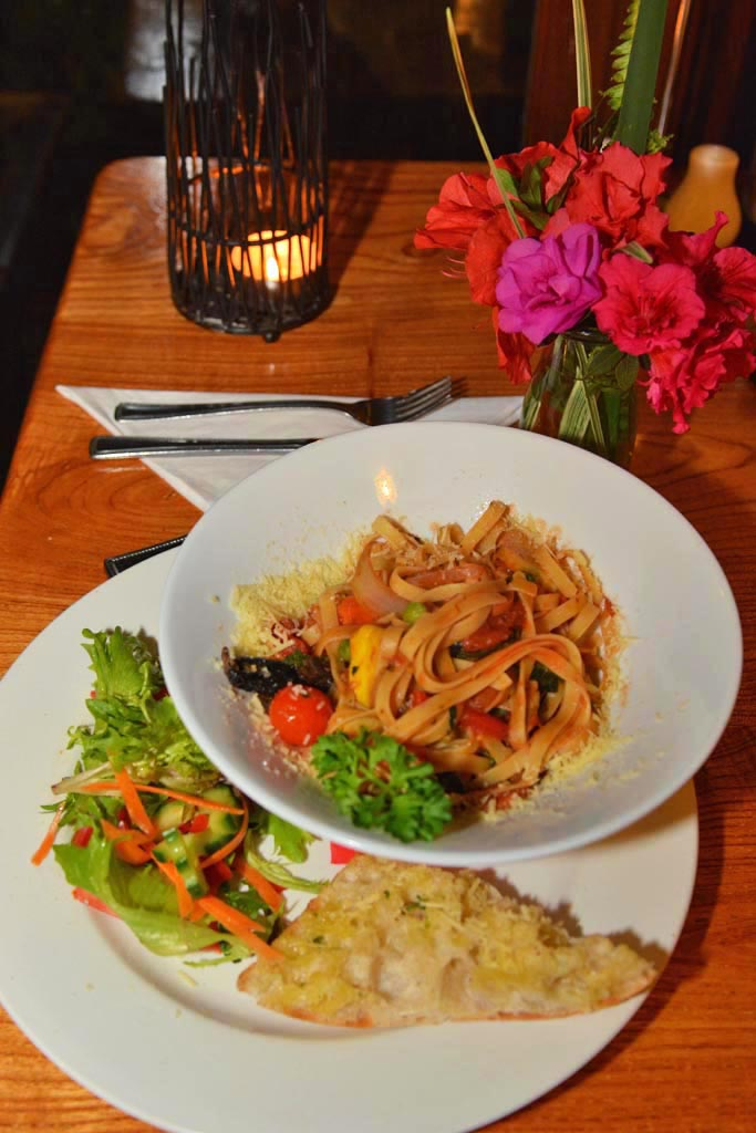 Vegetable Pasta at Possums Table Restaurant