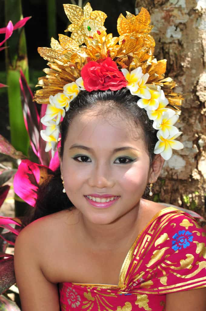 Bali girl in traditional dress