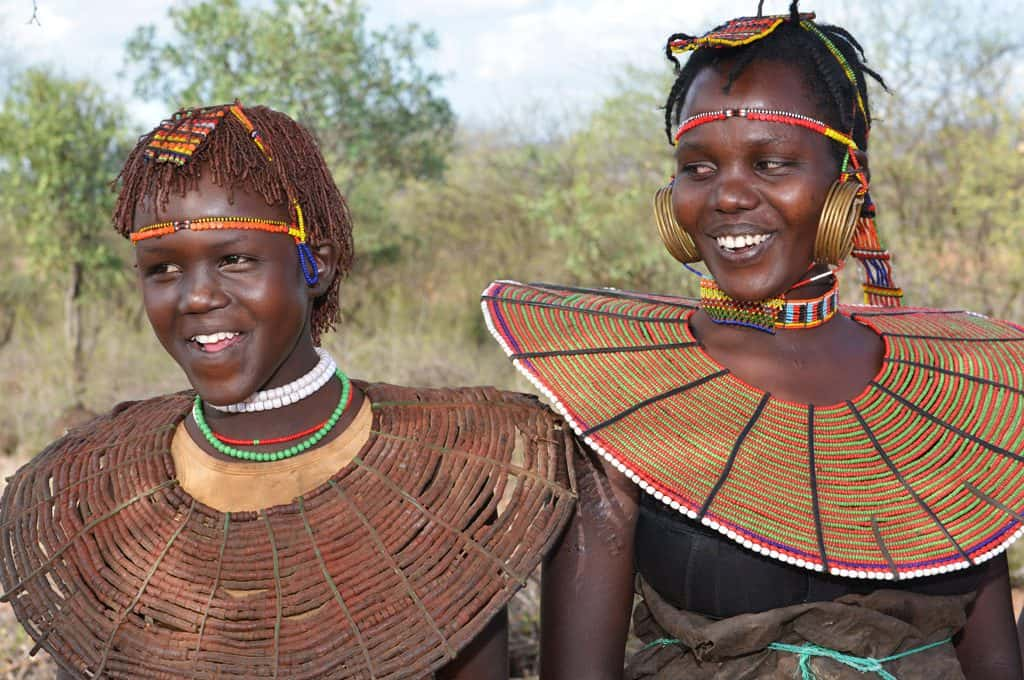 Girls from the Pokot Tribe