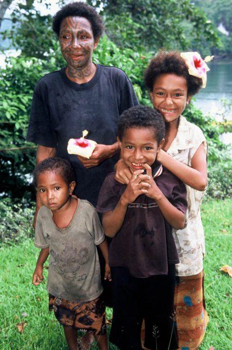 Local family at Tufi