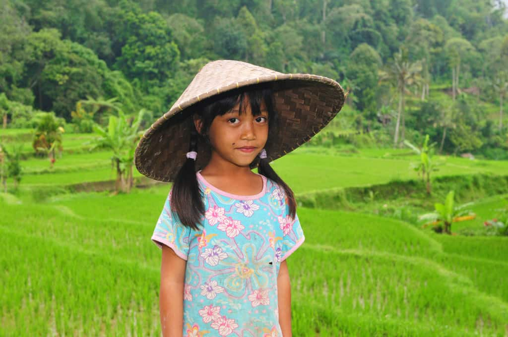 Local girl at Jatiluwih rice terraces