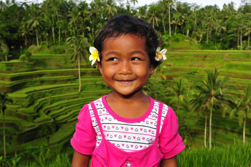 Local girl at Tegalalang Rice Terrace