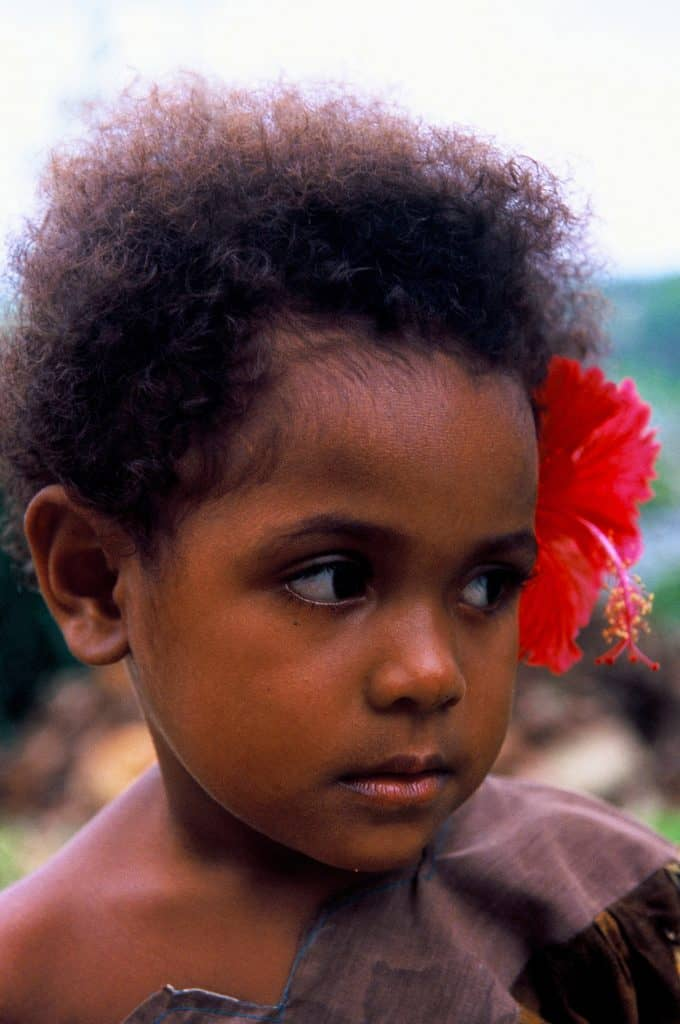 Local girl in Tufi