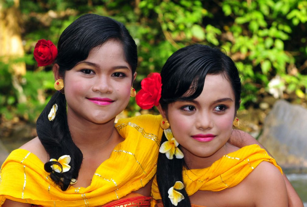 Local girls at a Bali Festival