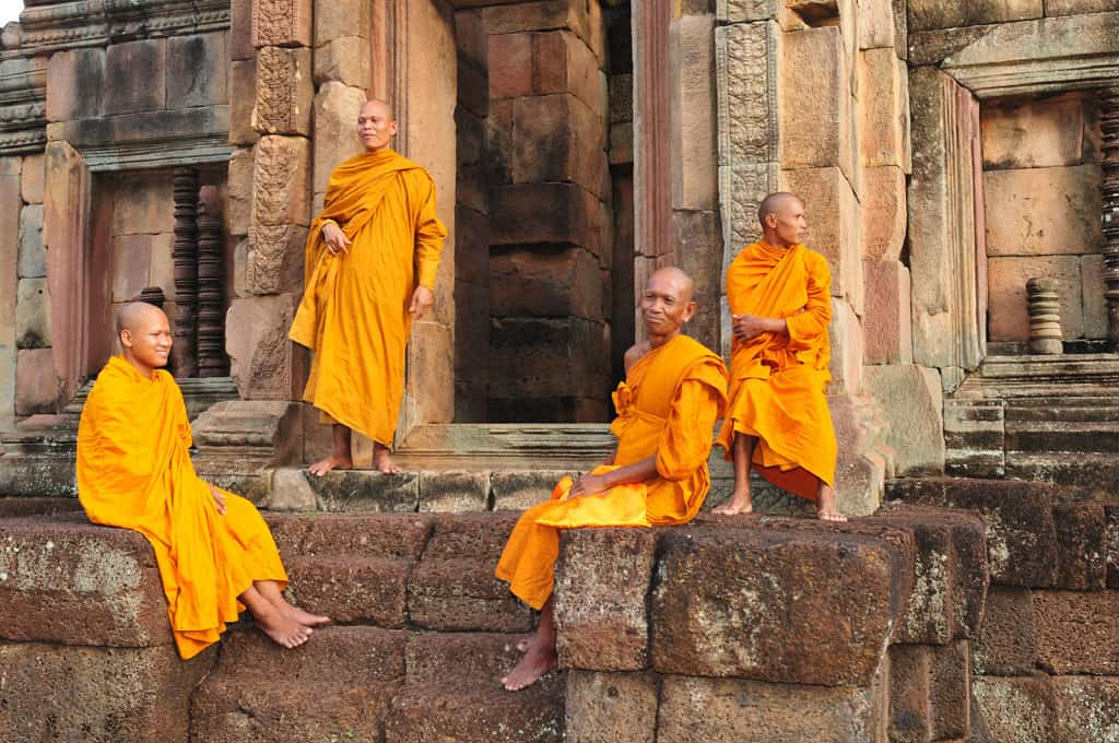 Monks at Muang Tam Thailand