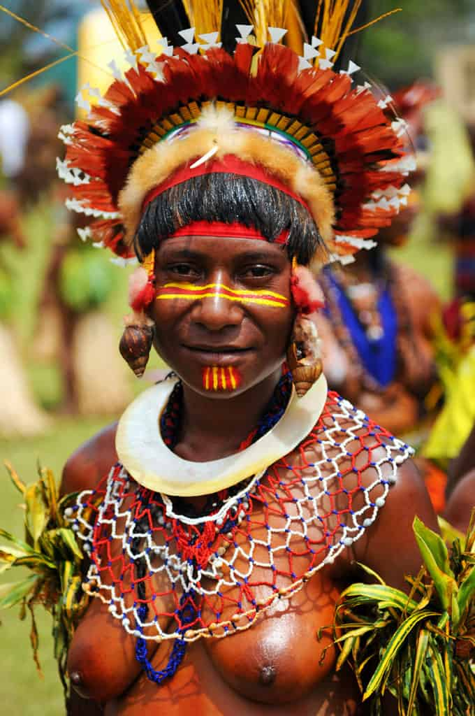 Tribes from all around the area attend the Goroka Festival