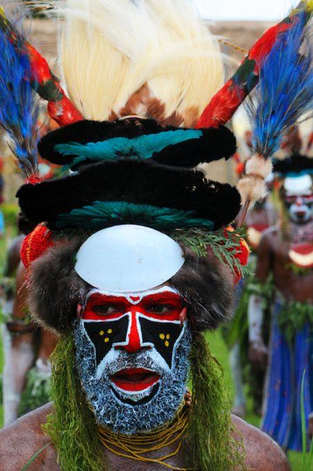 Tribesman celebrating at Goroka Festival