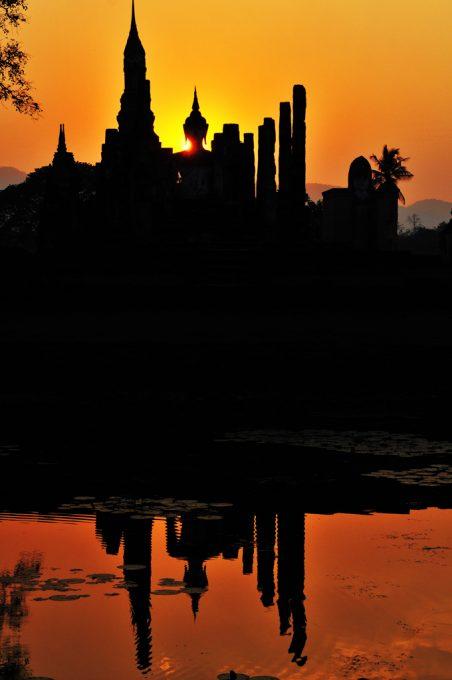 Wat Mahathat sunset