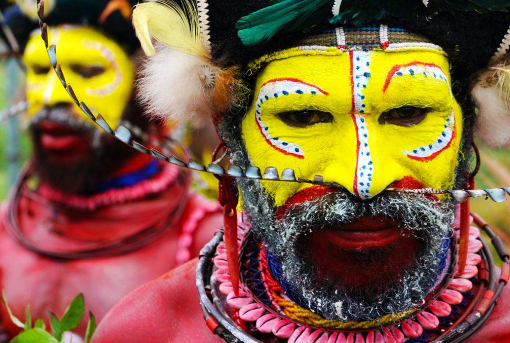 Wigman of the Huli Tribe