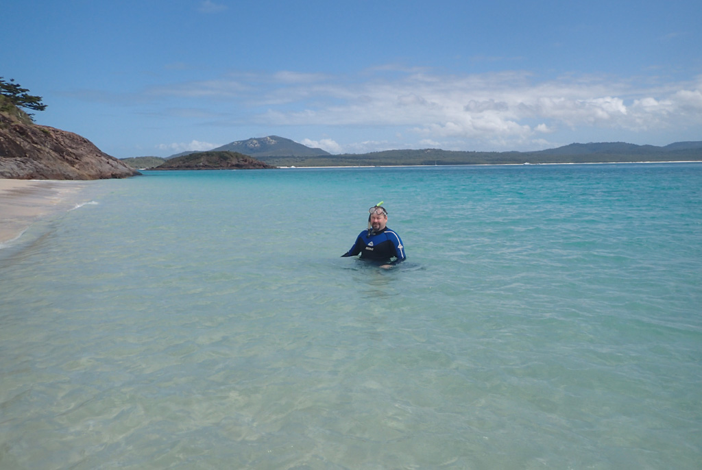 Ray searching for Nemo at the Whitsundays