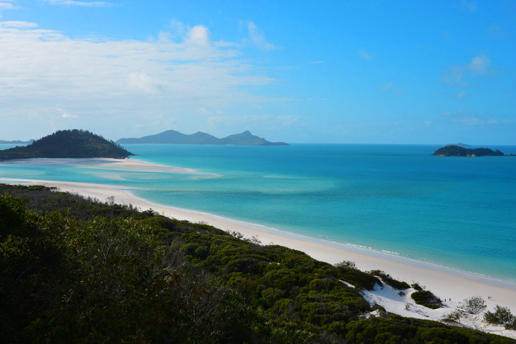 The view of Whitehaven from the lookout on the northern end of Whitehaven Beach