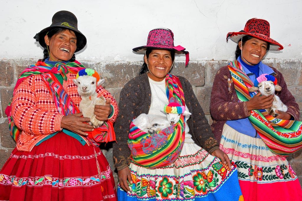 Friendly locals in Cusco