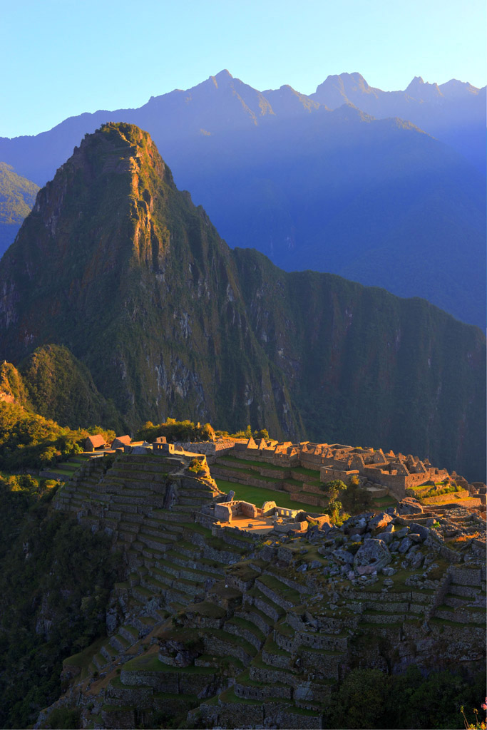 Machu Picchu just after sunrise