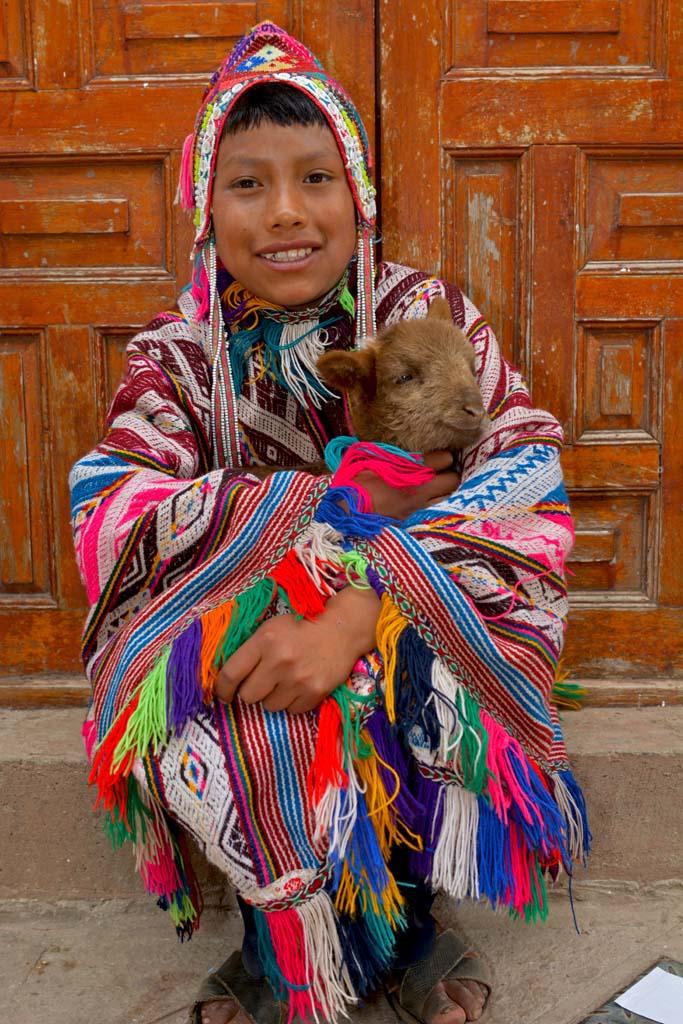 colourful locals in cusco