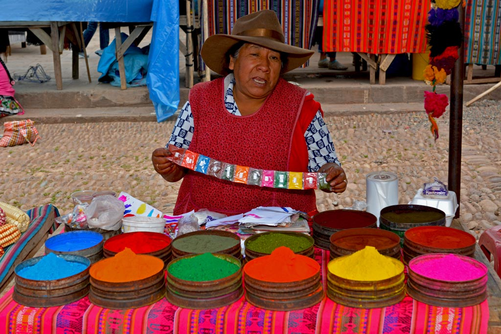 The colourful Pisac markets