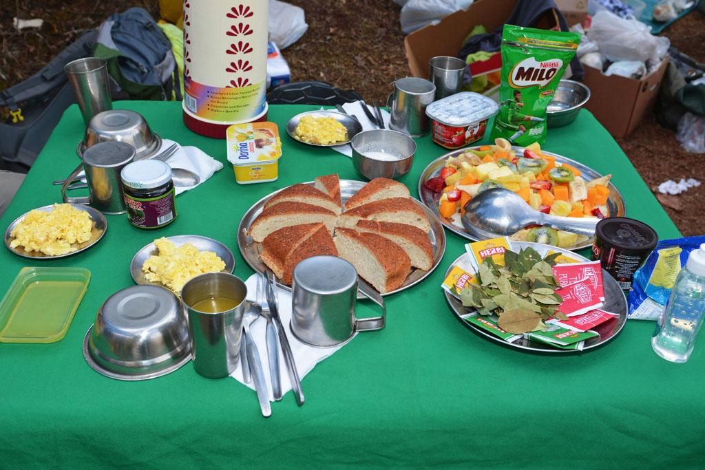 breakfast on lares trek