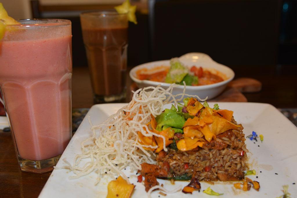 Vegetarian food in Cusco Chaufa rice