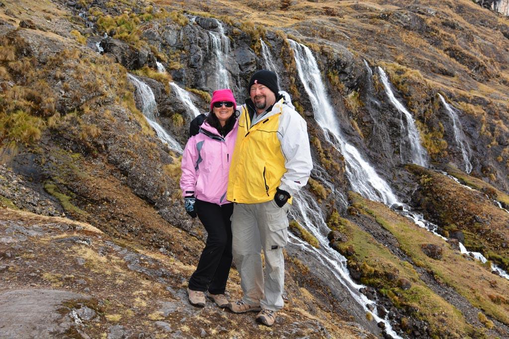 waterfall on lares trek