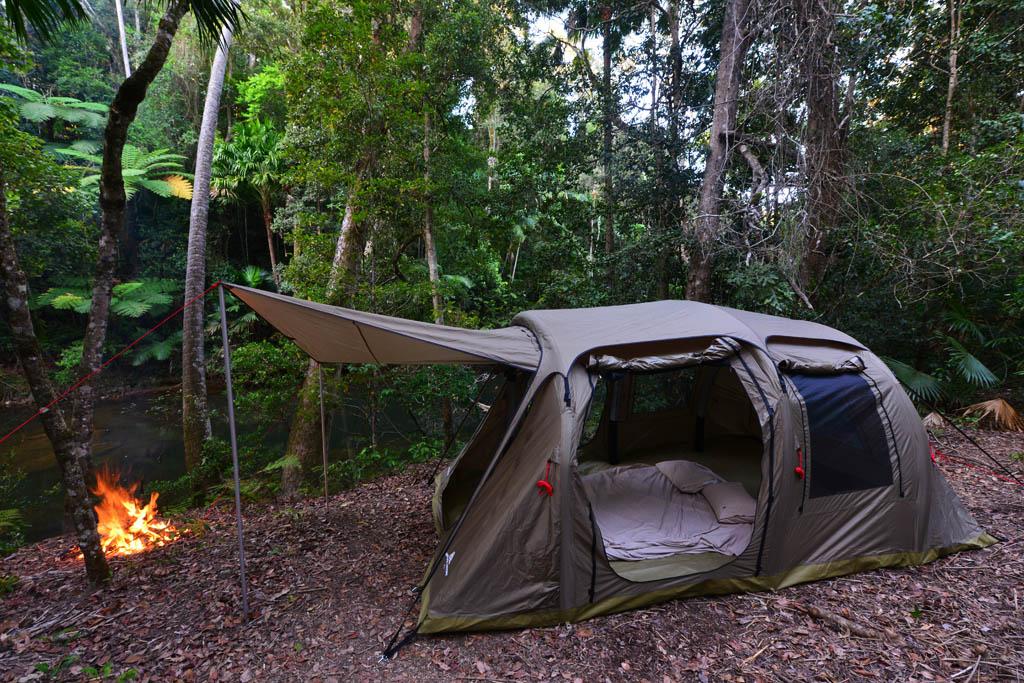 Our tent beside Broken River