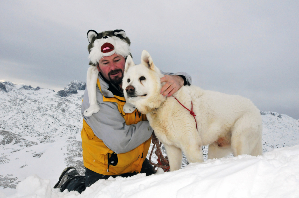Ray and husky at Shiga Kogen