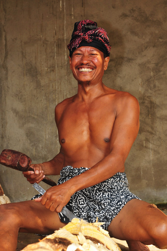 Balinese woodcarver